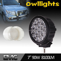 90w Round LED Work Lights for Truck 12v 24v LED Driving Light