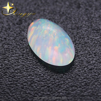 Oval 8x10mm Synthetic Imitation Opal For Opal Earrings