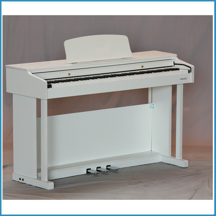 163 voice steel pedal grand digital electric piano in white color