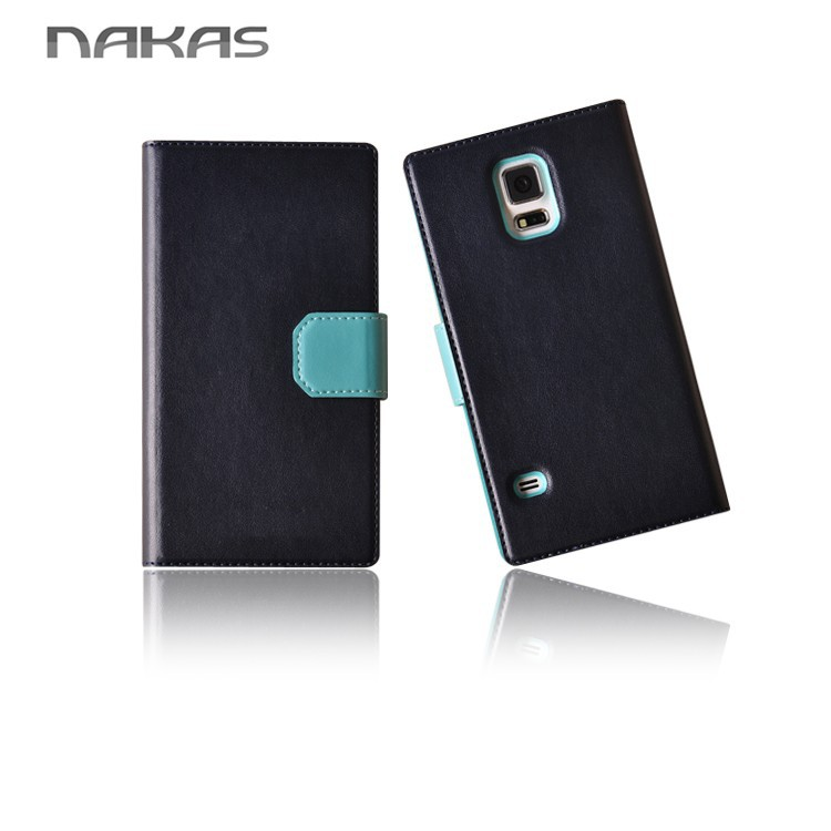 With Stand View Galaxy S5 Leather case for Samsung S5