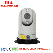 2MP High Speed 20X Optic zoom Infrared Mini Portable Smart Vehicle Security IP PTZ Camera