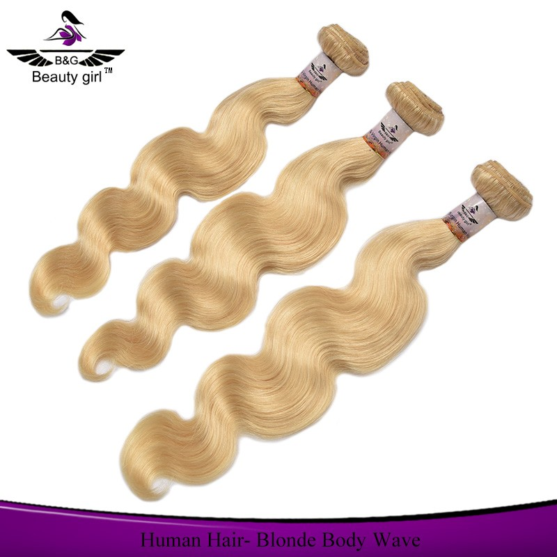 Large stock fast delivery wholesale hair weave european body wave hair platinum blonde hair weave