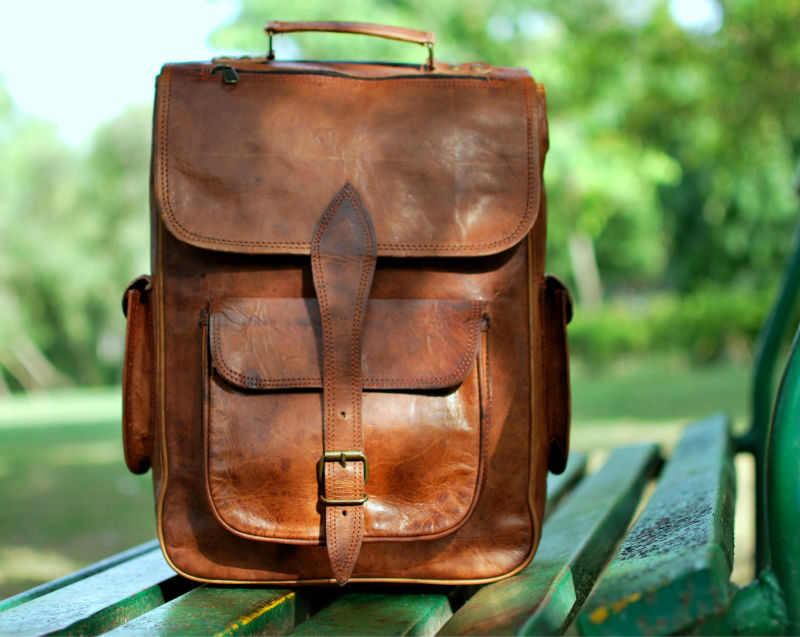 Handmade high quality vintageleather backpacks and rucksacks waterproof