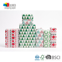 Popular Refined Christmas Style Fancy Gift Wrapping Paper Gift Packaging Paper Sheets Candy Wrapper