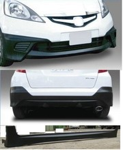 CAR BODY KIT FRONT BUMPER + REAR BUMPER + SIDE SKIRT FOR HONDA FIT JAZZ 2008 MD STYLE AUTO BODY KIT