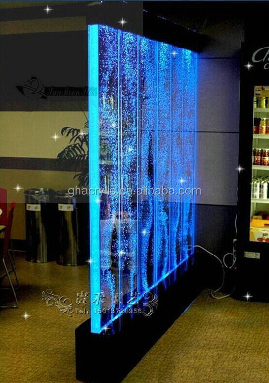 GuiHe-Q037 60X 70 feet Customized In 7 color changing led lights water bubble <strong>wall</strong>