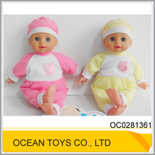 Lovely 16 IC mini reborn soft silicone baby doll with 4 sounds OC0281361