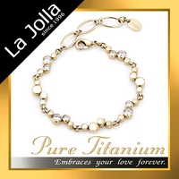 Women Gold Jewelry Top Sale Germanium Magnetic Titanium with Zircon Anklet