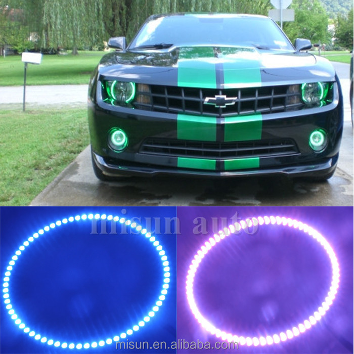 pair rgb chevy 160mm camaro LED angel eyes with Bluetooth remotes