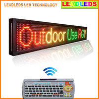 Free Shipping P10 Led Panel 3 Color Outdoor Scrolling Programmable Led sign With Keyboard