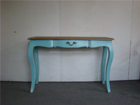 old blue antique console table