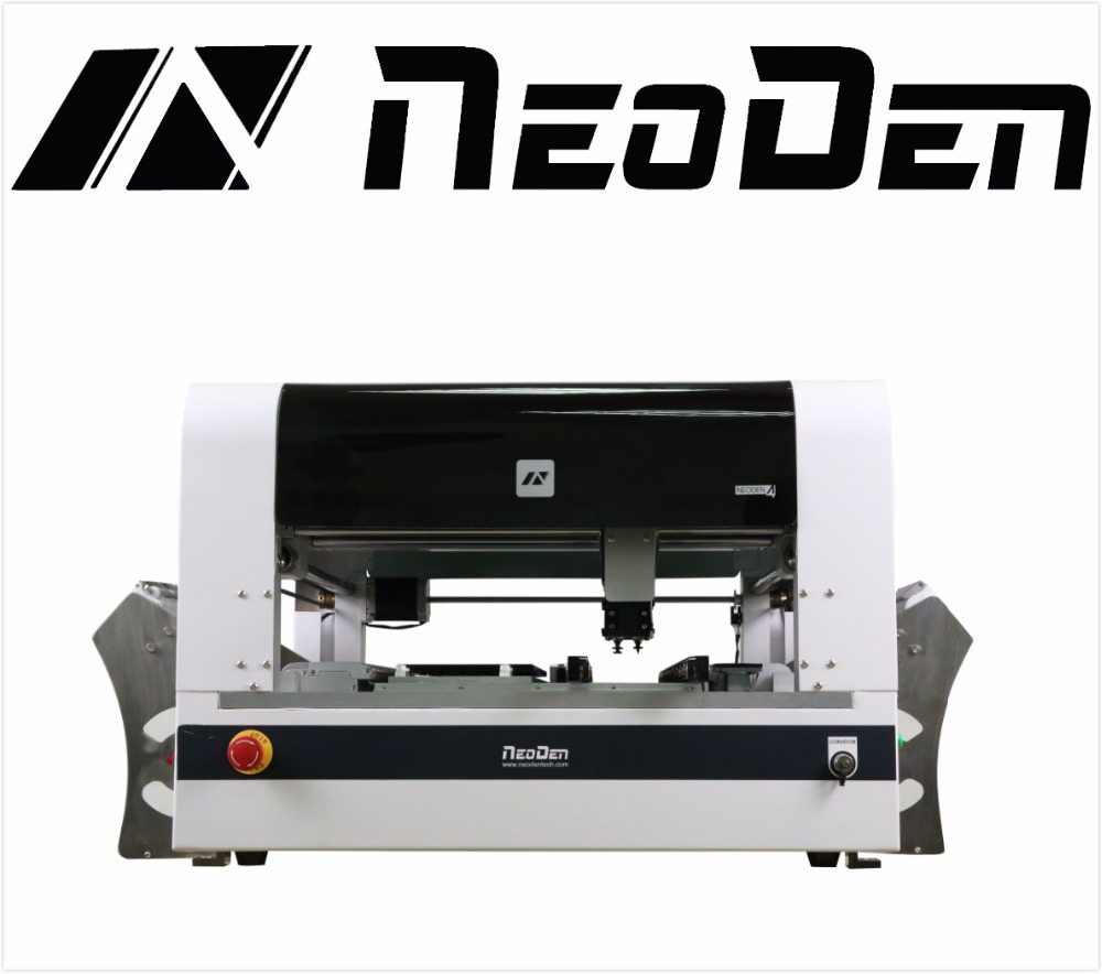 SMT Machine for Pick and Place Neoden4 with Vision System, 48 Feeders and Auto Rails by Neoden Tech