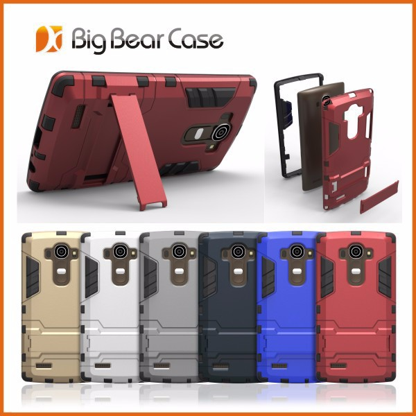 Iron Bear latest design kickstand slim armor case for LG G4