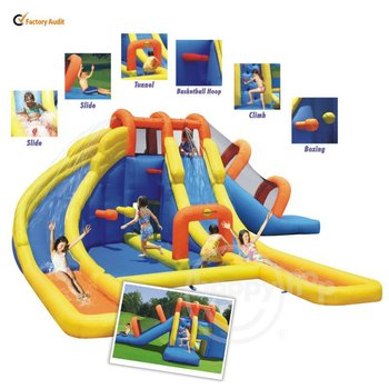 Happy Hop Inflatable Water Slide Pool -9045 Mini Water Park for Sale and amusement park games for sale