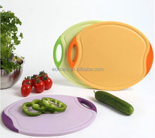 Kitchen gadgets vegetable round cutting board plastic chopping board