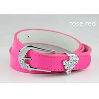 High quality new design paint finished treated surface women's belt,crystal studded belt, PU leather belt
