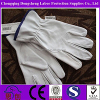 "Top quality 10.5"" Unlined driving safety leather gloves cowhide"