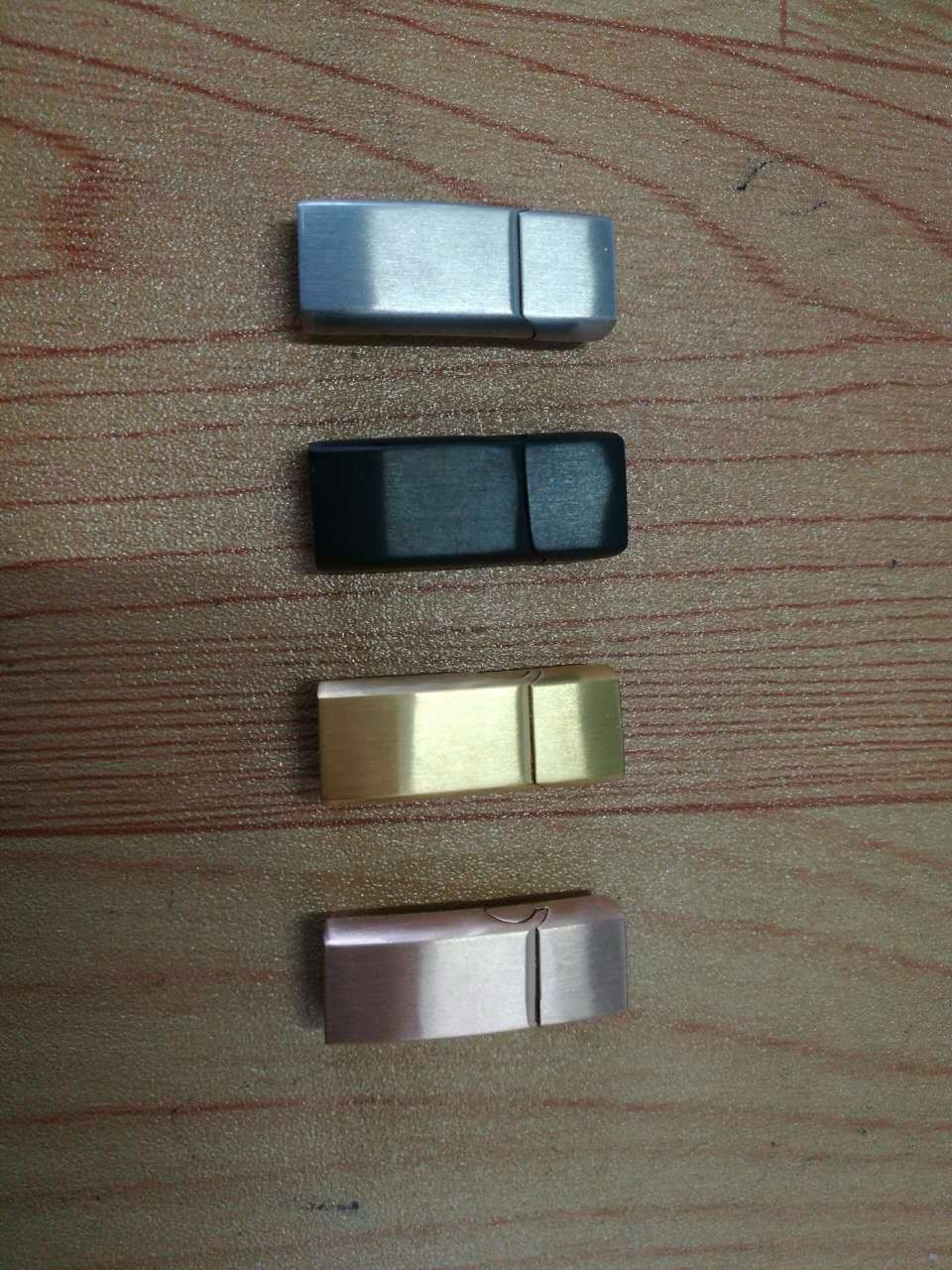 Leather Bracelet Making Button Charms Stainless steel Magnetic Clasp Accessories