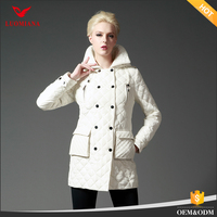 High quality plus size women clothing for brand name thin cotton or down winter jackets