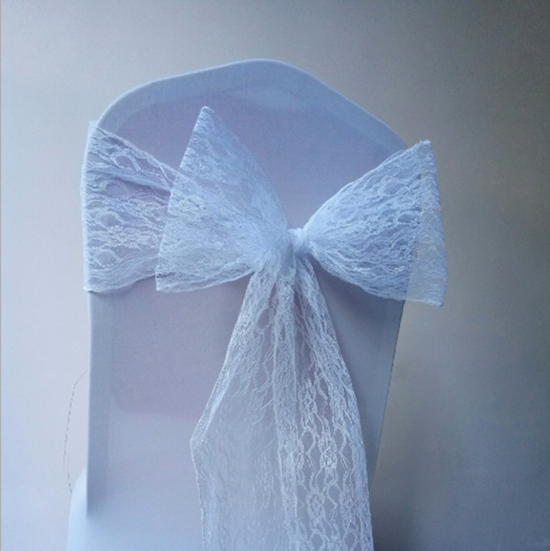 Wedding white spandex cheap chair covers chair sashes
