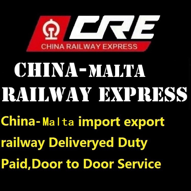 International transportation by train 20 Days to Europe Logistcis from China to Malta Deliveryed Duty Paid railway