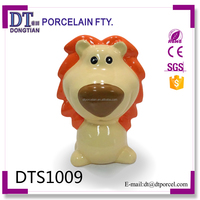 lion ceramic money box,lion piggy coin bank,animal cash bank