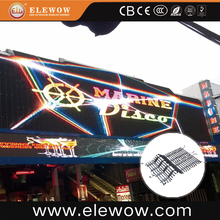 portable P37.5 flexible mesh screen led video curtain for sale