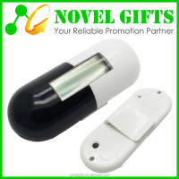 Promotion Capsule Pill Shape Step Counter Pedometer