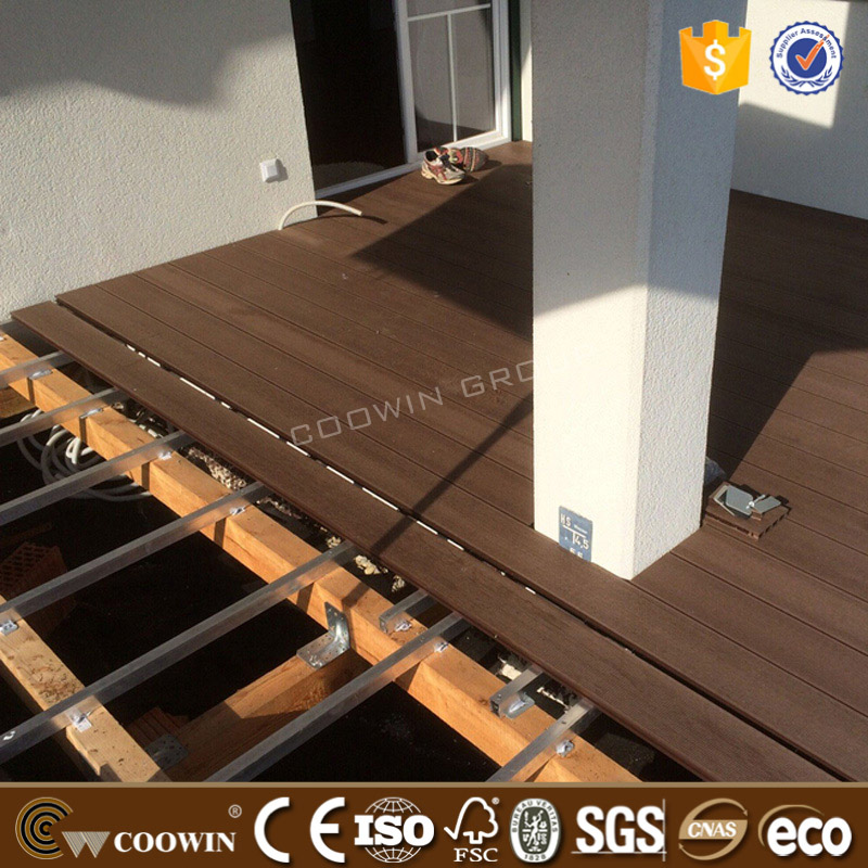 highly stain & UV resistance wood plastic mixture wpc floor