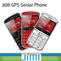 JIMI hottest GPS Senior Phone GPS+LBS Dual Positioning gsm mobile phone tracking JI08