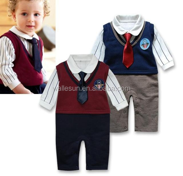 Fashionable baby boy infant romper baby clothes manufacturers usa