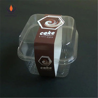 round clear PET ice cream container, take away plastic salad box with lid