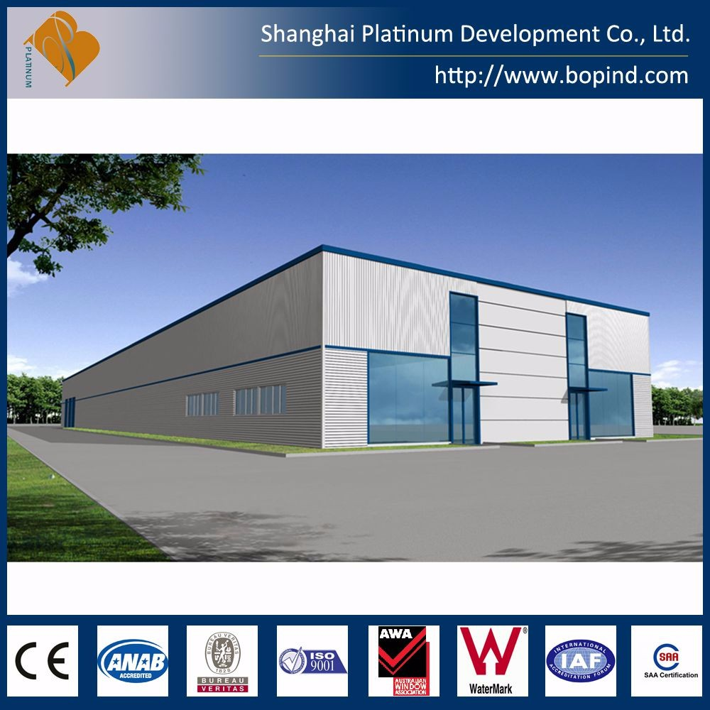 Cheap light steel frame prefab workshop and warehouse for hot sale