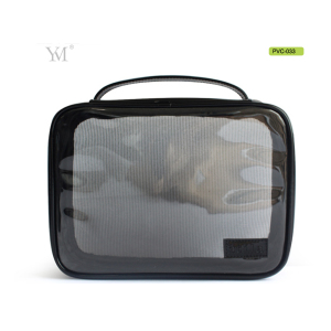 Handle PVC transparent toiletry bag for travel