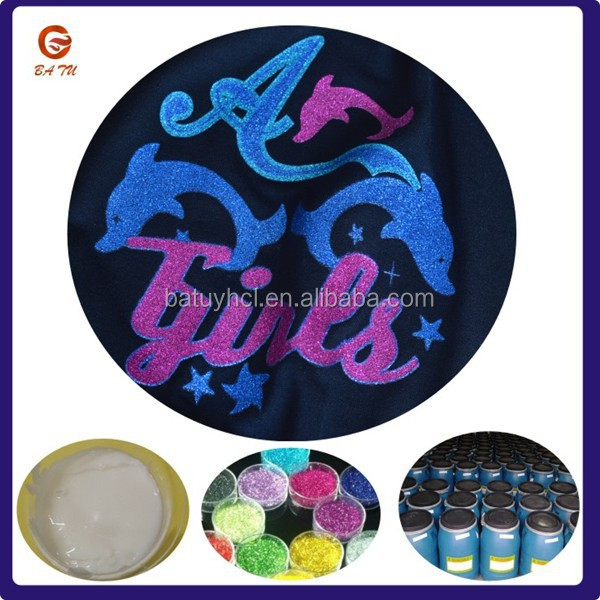 Popular soft water based fabric glitter paint
