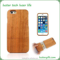Free shipping New products!Blank wood case for iPhone 6 case wood
