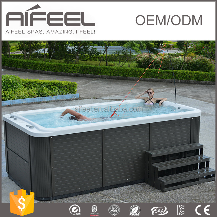 2017 CE Approval Guangzhou Manufacture 4400mm outdoor freestanding acrylic massage swimming pool equipment with led light