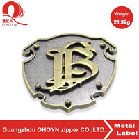 custom logo nickel rectangle engrave metal logo