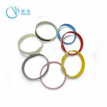 Silicone Rubber Wrist Bracelet, Colorful Hand Bands
