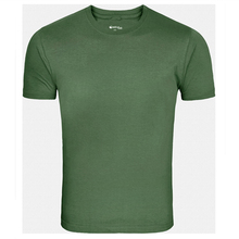 Forest Green Solid Round Neck plus size wholesale t-shirts