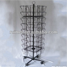 Customized Metal Rotating Post Card Display Stand