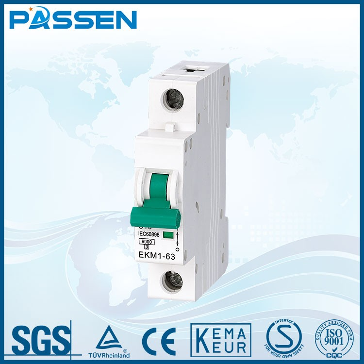 PASSEN plastic electric 125a circuit breaker 1p