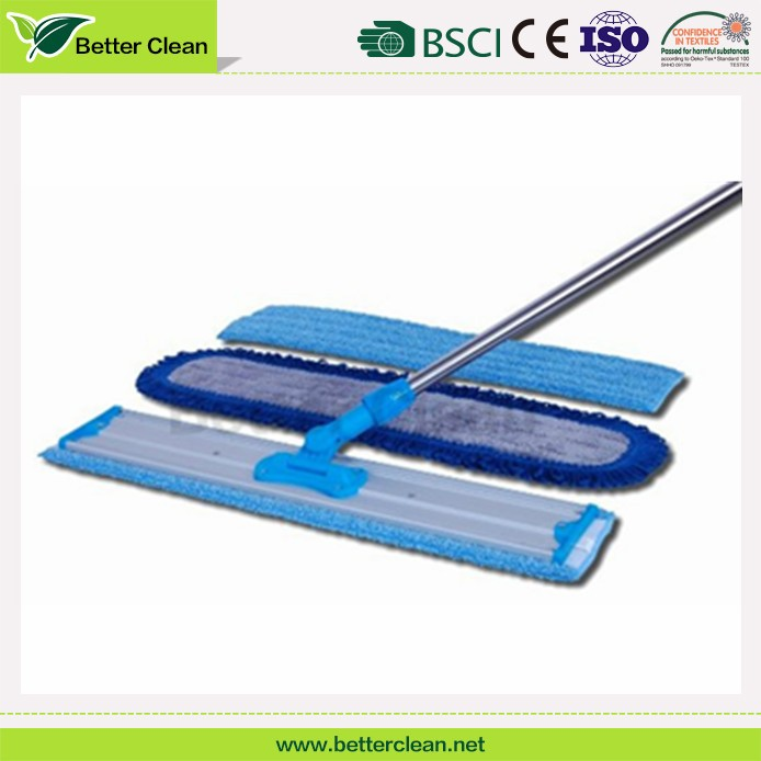Cleaning tool 100% polyester fabric washable flat dust mop