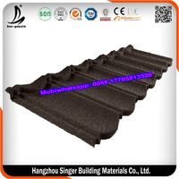 Thailand lightweight roof tile insulation heat stone coated/ permanent color zinc steel roofing sheet/metal roofing tiles