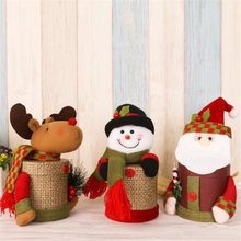 Factory direct plush snowman candy bags for Christmas