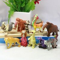 (New Arrival) 2016 12pcs Plastic the Jungle Book PVC Figure, 3D Cartoon Animal Toys, Custom Ice Animal Figure Cake Toppers