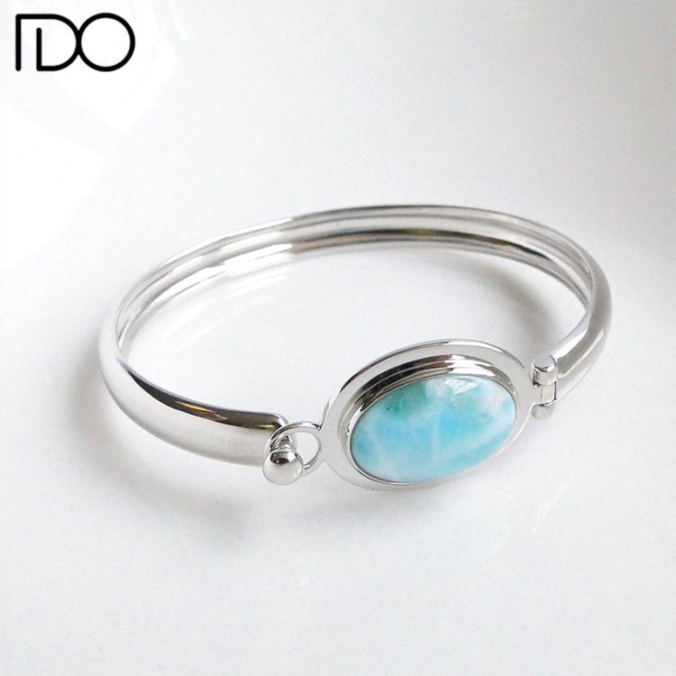 China professional manufacturer supply larimar 2016 bangles latest designs 925 solid silver bangle