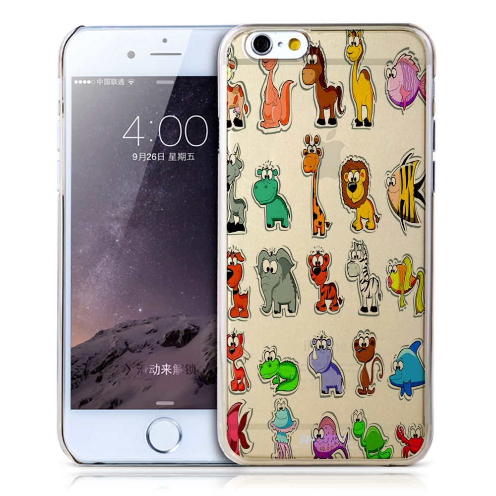 2016 new design animal custom design 5.5inch cute cell phone girls cover for iphone 6 TPU case