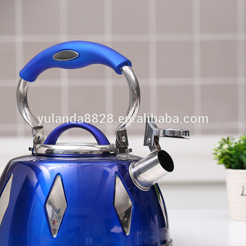 Hot Sell silicone handle 3.7L stainless steel gas water kettle