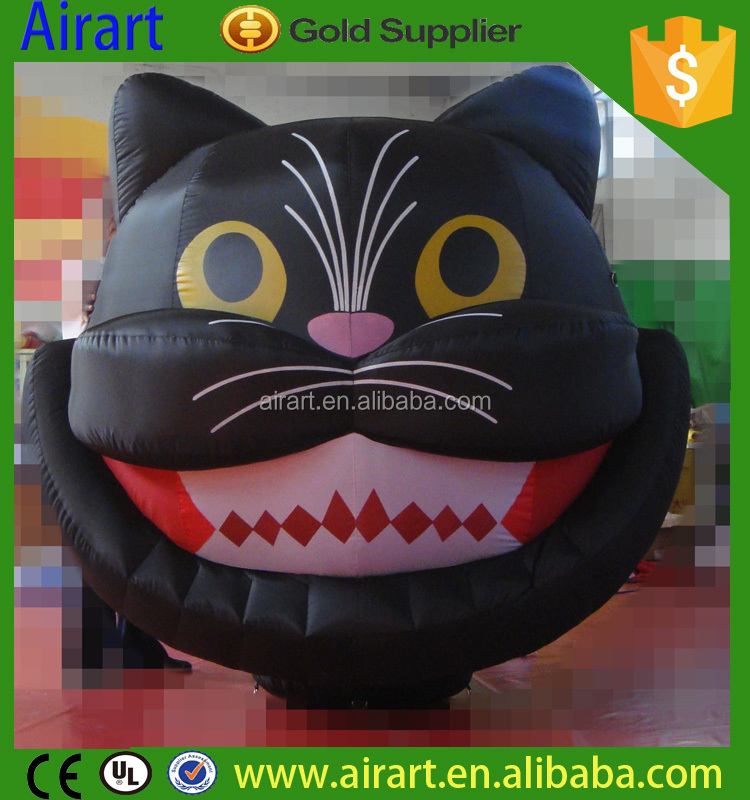 big size inflatable cat balloon for festival halloween night party
